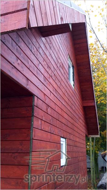 Elewacja domku z drewna